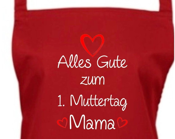 """Cook Baking Apron """"All The Happy 1st Mother's Day Mommy"""" GrillIng Grill Apron Apron DIY Garden Latzschürze"""