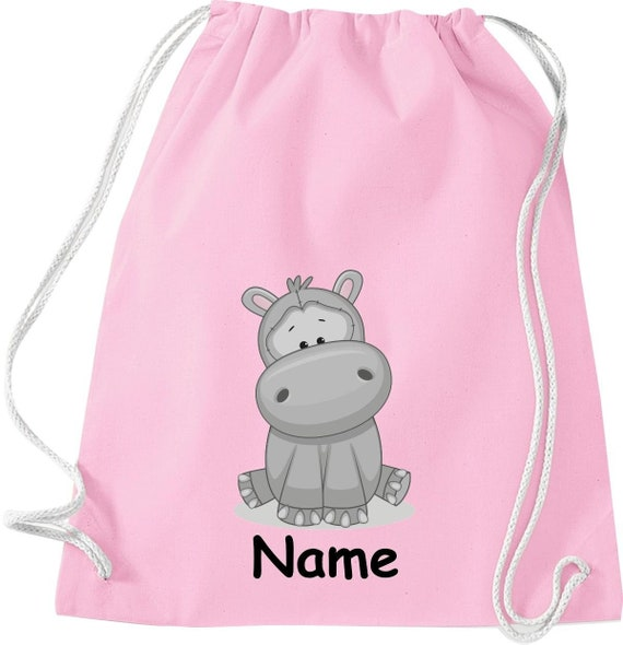Gym bag animal motifs with desire name children motifs gymsack sports bag