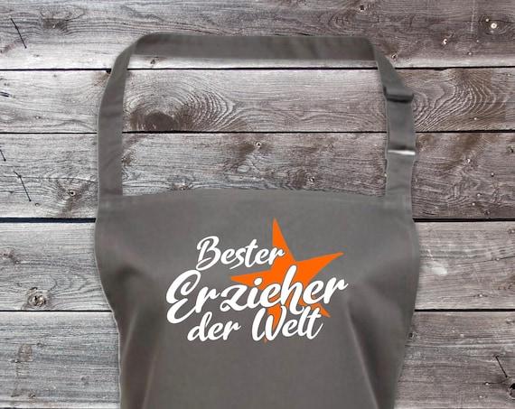 """Koch Baking Apron """"Best Educator in the World"""" Grilling Grill Apron Apron DIY Garden Latzschürze"""
