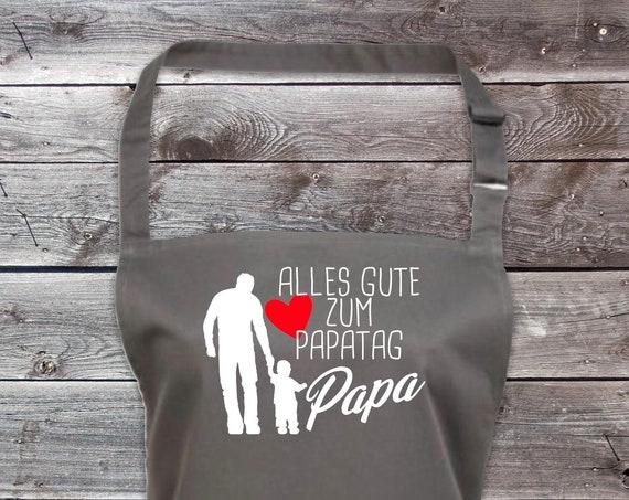 """Koch Backschürze """"Alles Gute zum Papatag Papa"""" Grillen Grillschürze Schürze Heimwerker Garten Latzschürze"""