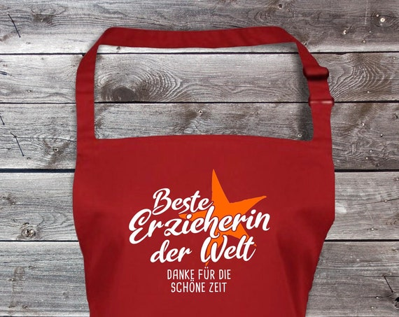 "Chef Baking Apron ""Best Educator in the World Thank You for the Beautiful Time"" Grilling Grill Apron Apron DIY Garden Latzschürze"
