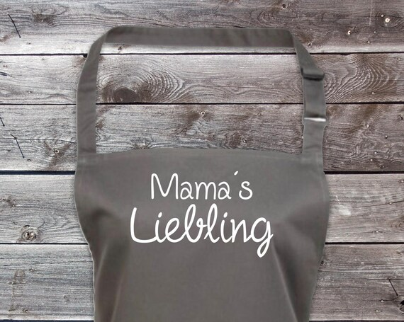 "Cook Baking Apron ""Mama's Darling Mother's Day Mama Mum"" GrillIng Grill Apron Apron DIY Garden Latzschürze"