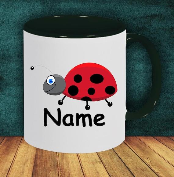 Children's Cup Drinking Mug Ladybug with Wish Name