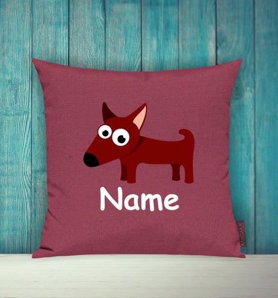 Kissenhülle Sofa Kissen Tiere Animal Hund Wunschname Deko Kinderzimmer Geschenk Tiere Natur Füchse Wald