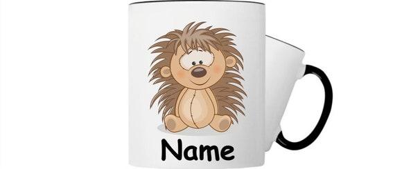 Kinder Tasse Trink Becher Igel mit Wunschnamen