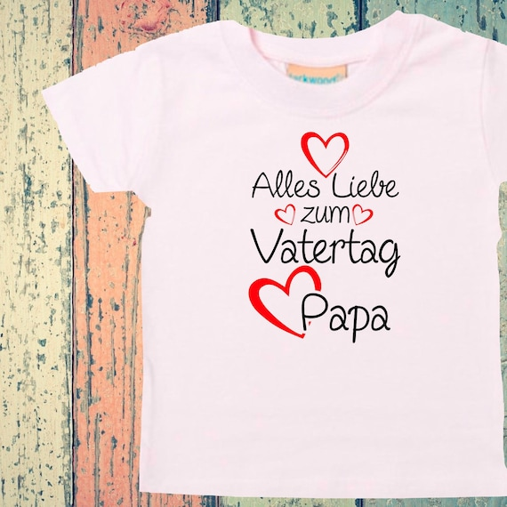 Baby Kids T-Shirt All Love for Father's Day Dad Gift Birth Dad's Day