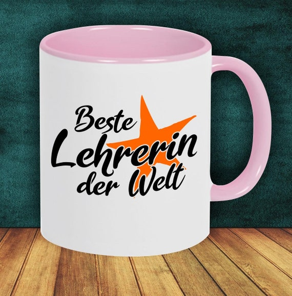 Coffee pott cup coffee cup best teacher in the world gift to female teachers