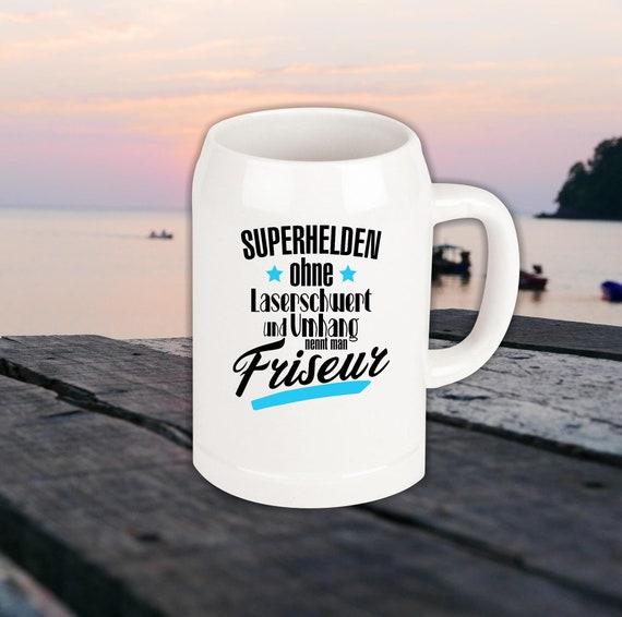 Beer mug Superhero Without laser sword hairdresser,hairdresser... Best Best Pitcher to Kick
