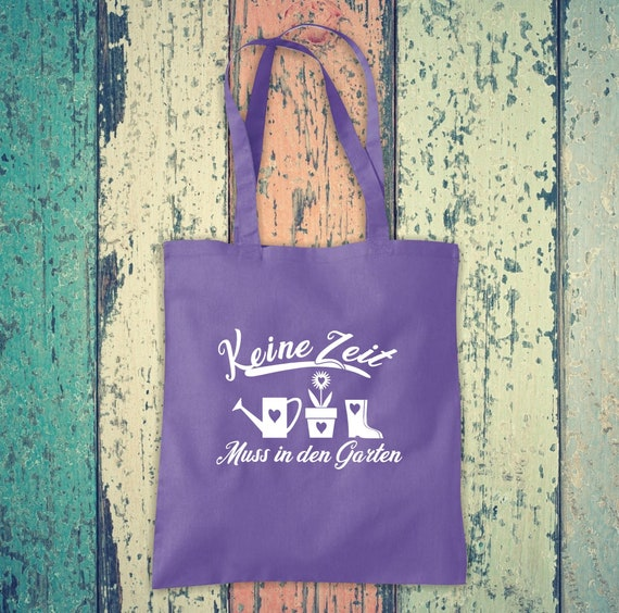 Fabric Bag Jute Cotton Bag No Time Must Go to the Garden Gift