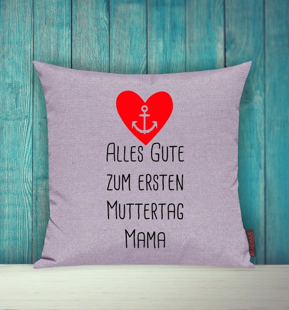 """Cushion Cover Sofa Pillow """"Happy First Mother's Day Mom"""" Sofa Pillow Deco Couch Pillow Pillow"""