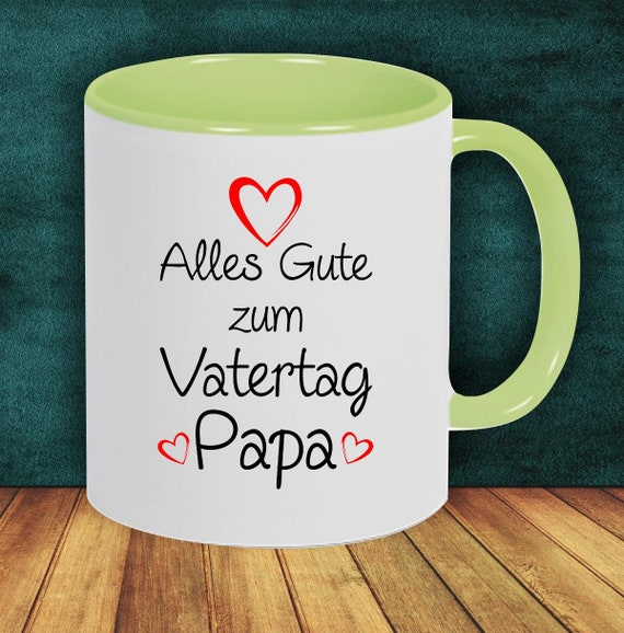 "Coffee Pot ""All The Happy Father's Day Dad"" Cup Coffee Cup Teacup Gift Mug"