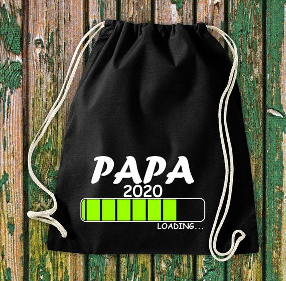 Gymsack Loading Dad 2020 Jute Backpack Birth Sports Bag