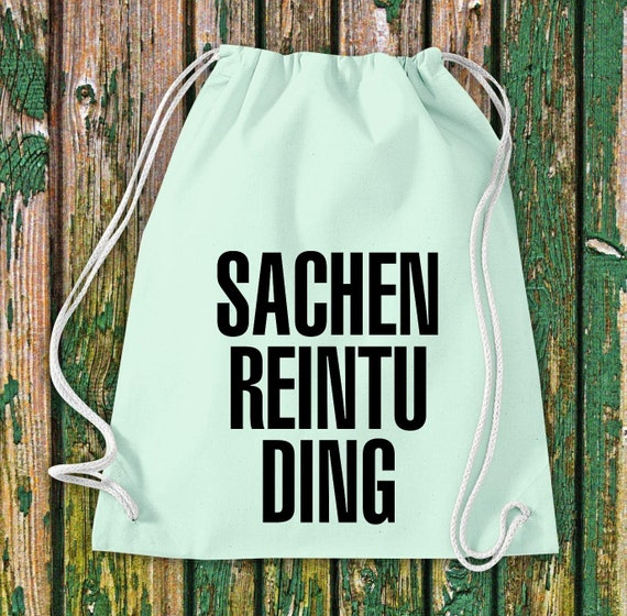 """Turnbeutel """"Sachen Reintu Ding"""" Baumwolle Gymsack Tasche Beutel"""
