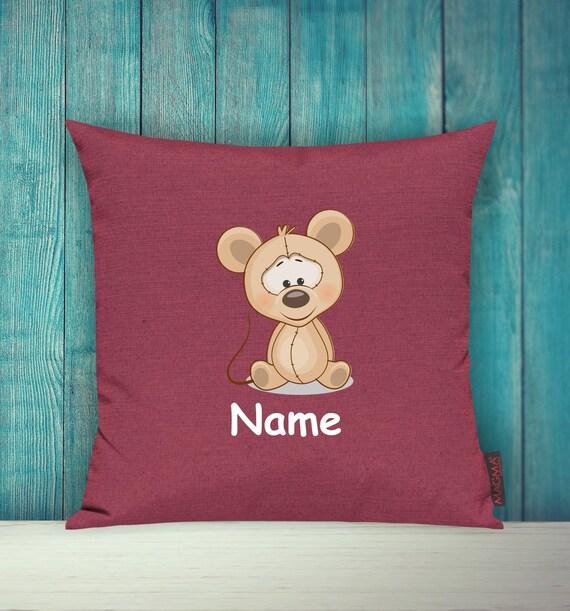 Kissenhülle Sofa Kissen Tiere Animal Maus Wunschname Deko Kinderzimmer Geschenk Tiere Natur Füchse Wald