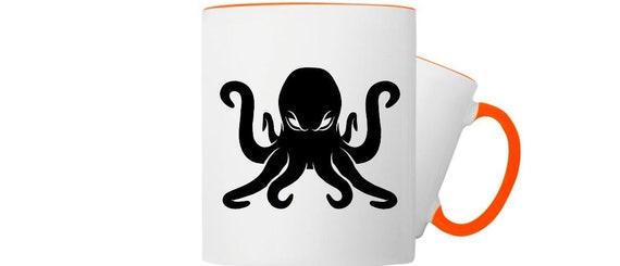Kaffeepott Tasse Maritim Motiv Krake Kraken