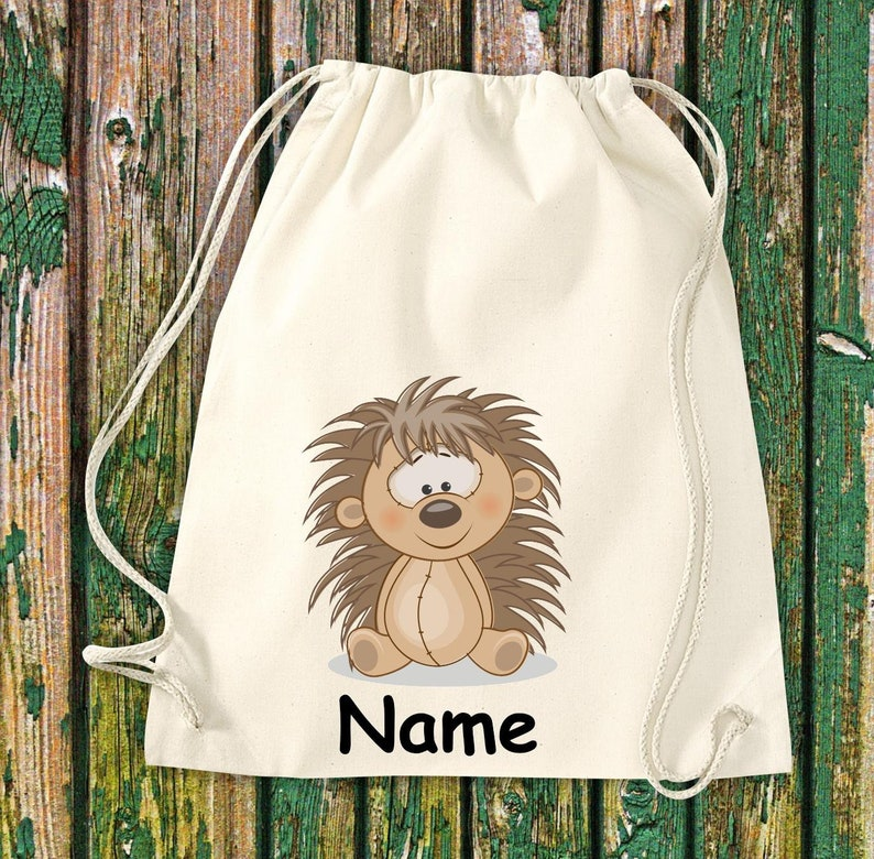 Gymnasticbag Animal Motifs with Wish Name Kids Motifs Gymsack image 0