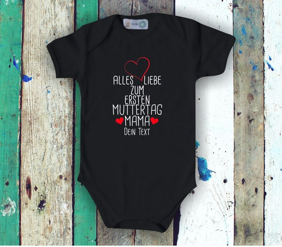 Baby Body Short Sleeve All Love for First Mother's Day Mom with Wish Name Text