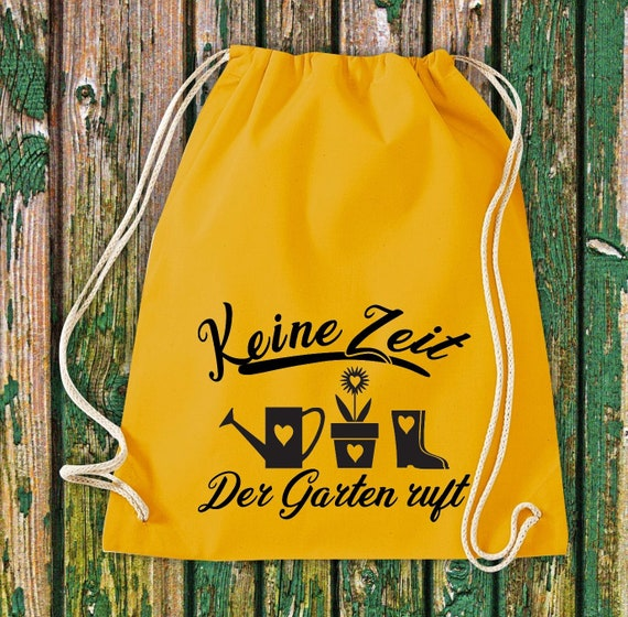 "Gym Bag Sports Bag ""No Time The Garden Calls"" Garden Bag Natural Cotton Gym Bag Bag Bag"
