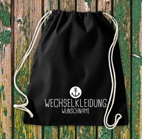 Gym bag Sports bag Change of clothes Anchor with desired text Kita Hort School Cotton Gym bag Bag Bag bag