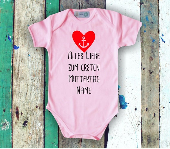 Baby Bodybody Babybody All Love for First Mother's Day with Wish Name Text Mom Mom
