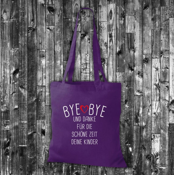 Cloth bag jute cotton bag Bye Bye and Thank you for the beautiful time your kids gift to educator/Kita
