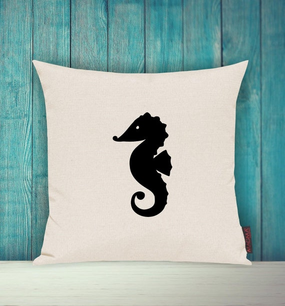"""Cushion Cover Sofa Pillow """"Seahorse Seahorse Holiday Family"""" Sofa Cushion Decoration Couch Cuddly Pillow"""