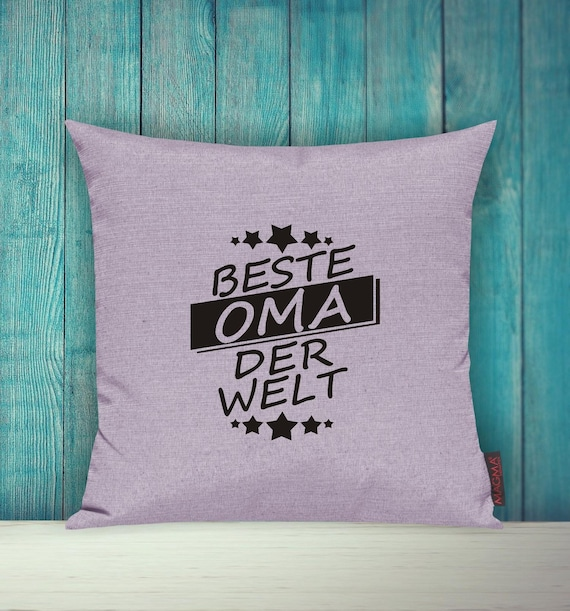Cushion Covers Deco Pillow Best Grandma of the World Sofa Pillow Gift Idea Omi Grandparents
