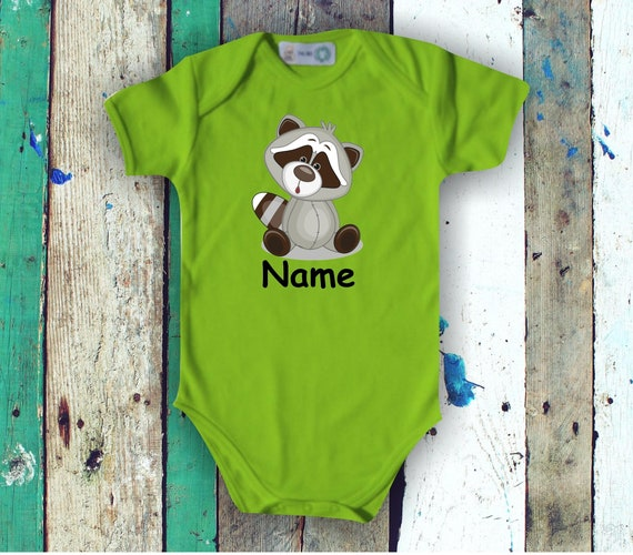 Baby BodyBody Romper with Cute Animals and Wish Names Gift Handmade