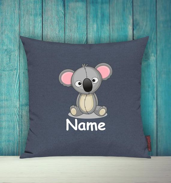 Kissenhülle Sofa Kissen Tiere Animal Koala Wunschname Deko Kinderzimmer Geschenk Tiere Natur Füchse Wald