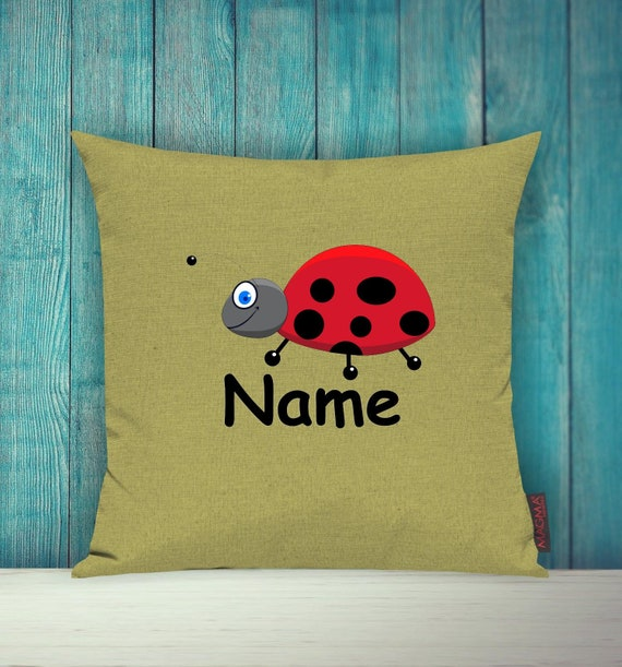 Cushion Cover Sofa Pillow Animals Animal Ladybug Wish Name Deco Nursery Gift Animals Nature Foxes Forest