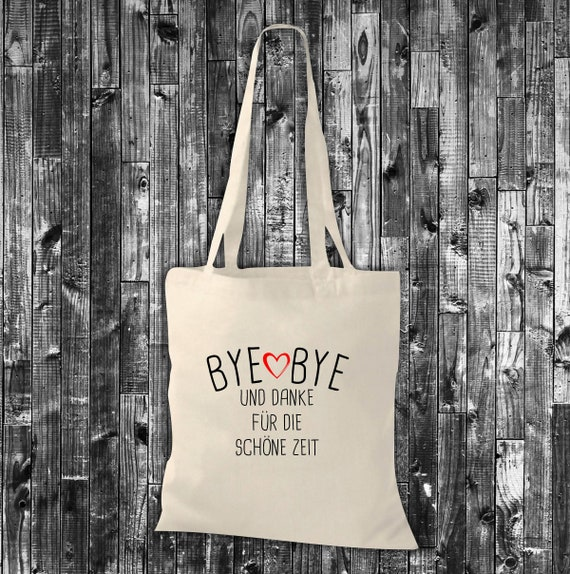 Cloth bag jute cotton bag Bye Bye and Thank you for the beautiful time gift