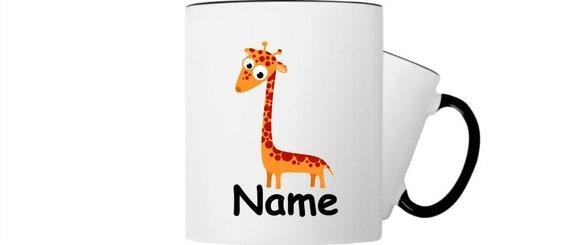 Kinder Tasse Trink Becher Giraffe mit Wunschnamen
