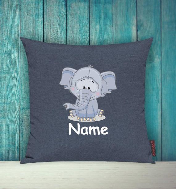 Kissenhülle Sofa Kissen Tiere Animal Elefant Wunschname Deko Kinderzimmer Geschenk Tiere Natur Füchse Wald