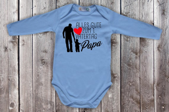 Baby Body Long Sleeve Baby Bodysuit Happy 1st Father's Day Gift Longsleeve