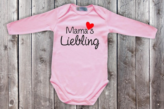 Baby Bodylong Arm BabyBody Mom's Darling Heart Mother's Day Momday Gift Longsleeve