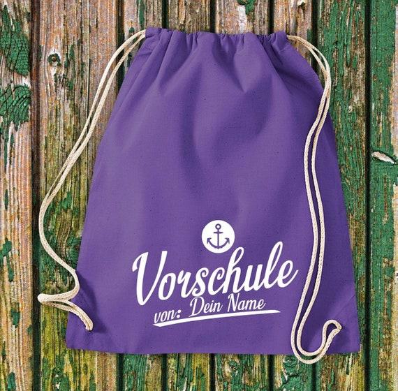 Gym bag Sports bag Anker Preschool with desired name, desired text Kita Hort School Cotton Gym bag Bag Bag Bag