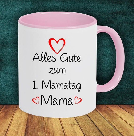 """Coffee Pot """"All The Happy 1st Mommy Day Mommy"""" Cup Teacup Gift Mug"""