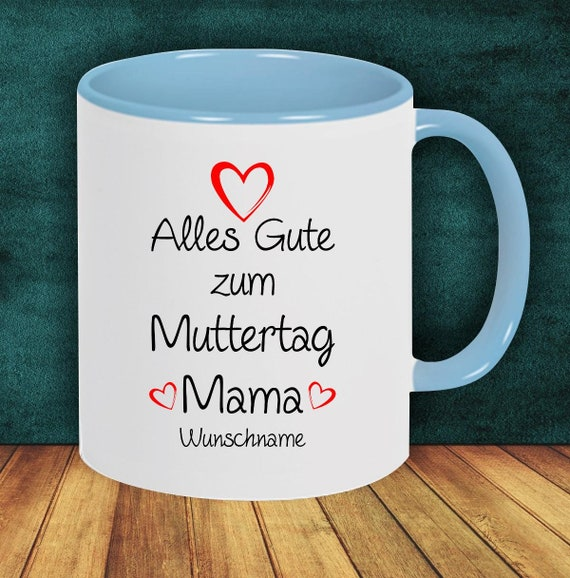 "Coffee pot ""All the best mother's day mom with wish name or wish text"" cup coffee cup teacup gift mug"
