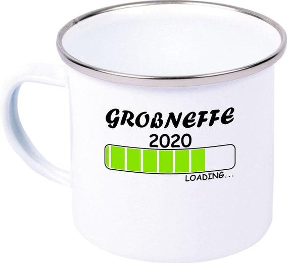 Emaille Becher Tasse Loading Großneffe 2020 Familie Zuwachs Schenken Mug Camping Zelten Pott
