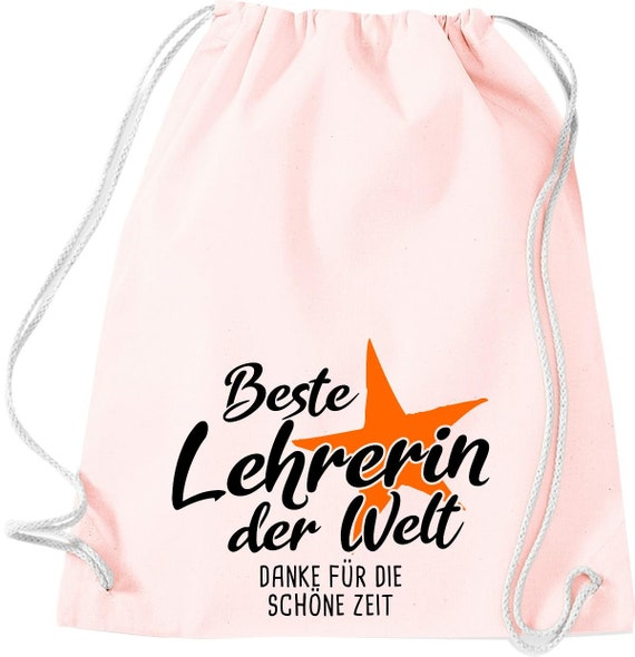 Gym bag best teacher in the world thanks for the beautiful time gift to female teachers cotton