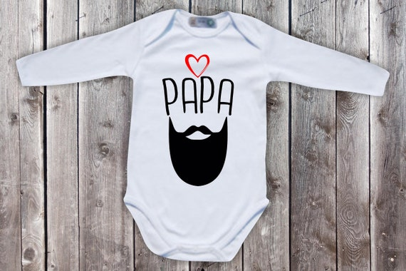 Baby Body long sleeve baby bodysuit dad beard hipster father's day dad's day gift longsleeve