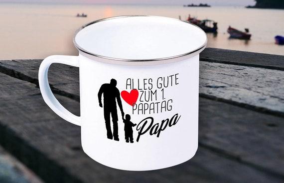 """Enamel Mug """"Happy 1st Dad's Day Dad Dad Father's Day"""" Cup Coffee Mug Mug Retro"""