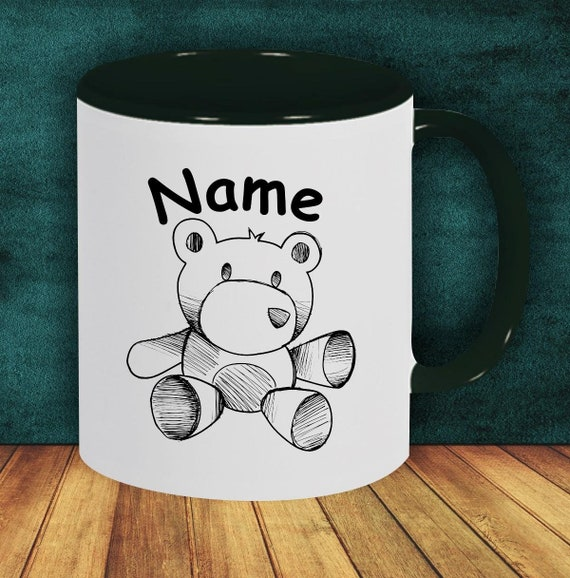 Kids Cup Drinking Mug Teddy Bear with Wish Names