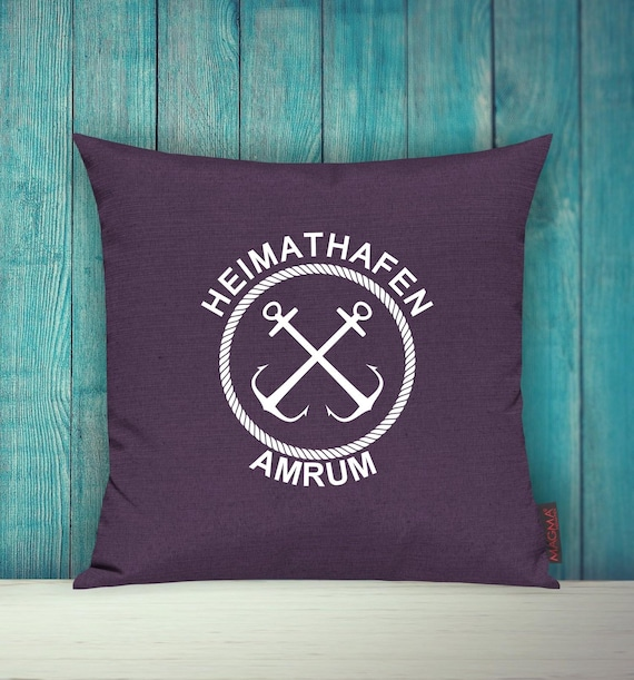 """Cushion Cover Sofa Pillow """"Home Port Amrum Holiday Family"""" Sofa Pillow Decoration Couch Pillow Pillow"""