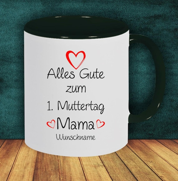 "Coffee pot ""All the best for the 1st  Mother's Day Mom with Wish Name or Wish Text"" Cup Coffee Cup Teacup Gift Mug"