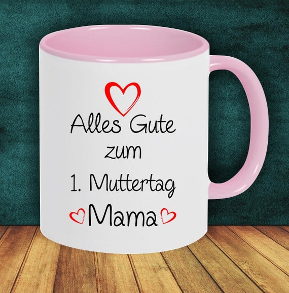 "Coffee pot ""All the best for the 1st  Mother's Day Mom"" Cup Coffee Cup Teacup Gift Mug"