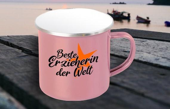 """Enamel Mug """"Best Educator in the World"""" Cup Coffee Mug Mug Retro"""