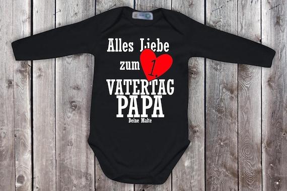 Baby Body Langarm  Babybody Alles Liebe zum Vatertag mit Wunschname  Geschenk Longsleeve