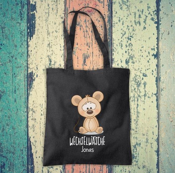 Cloth bag Change of linen, mouse with desired name, desired text school cotton jute sports bag bag bag bag hort enrollment kindergarten animal
