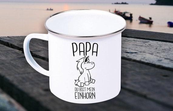 """Enamel Mug """"Dad You're My Unicorn Father's Day Dad Dad Day"""" Cup Coffee Mug Mug Retro"""